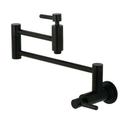 Concord Wall-Mounted Potfiller Lever Handle in Matte Black