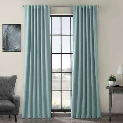 Semi-Opaque Juniper Berry Green Blackout Curtain - 50 in. W x 120 in. L (Panel)