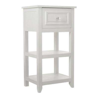 Johnston 15 in. W x 28 in. H x 11-1/8 in. D 2-Shelf Bathroom Linen Storage Floor Cabinet in White
