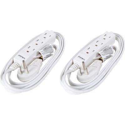 6 ft. 3-Outlet Power Strip (2-Pack)