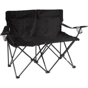 Click here to buy Trademark Innovations Black 31.5 inch H Loveseat Style Steel Frame Double Camp Chair by Trademark Innovations.