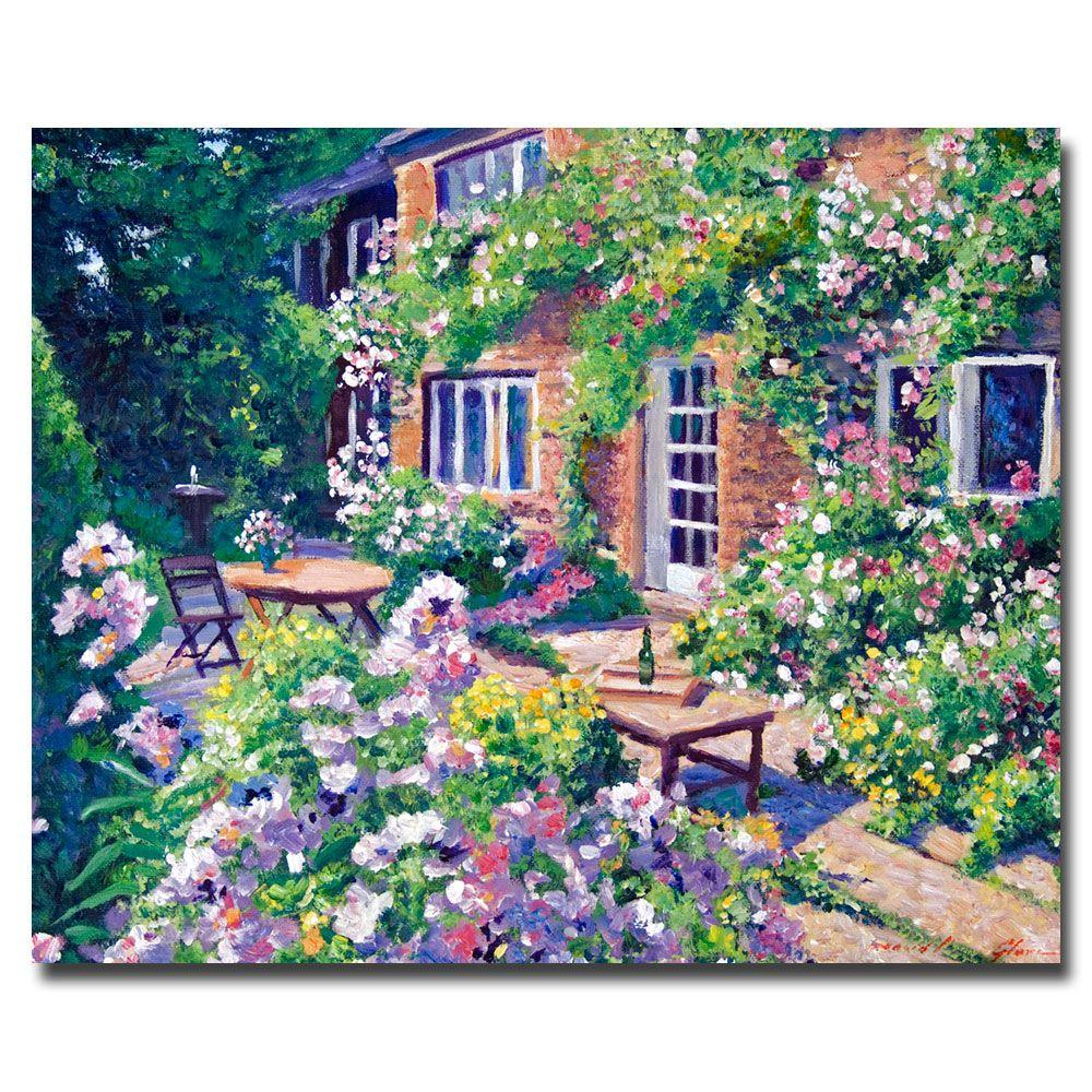 26 in. x 32 in. English Courtyard Canvas Art