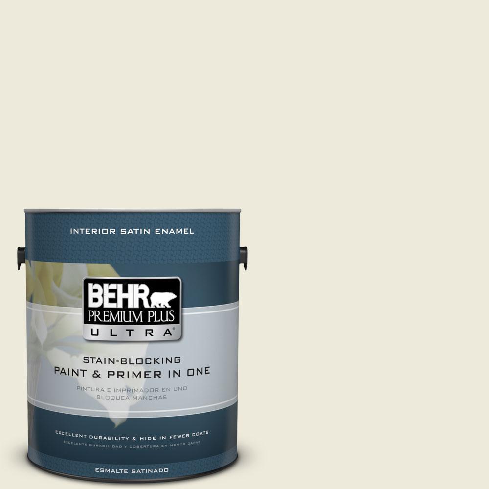 BEHR Premium Plus Ultra Home Decorators Collection 1-gal. #HDC-CT-27 Swiss Cream Satin Enamel Interior Paint