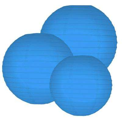 Multi Size Bluebell Paper Lanterns (6-Count)