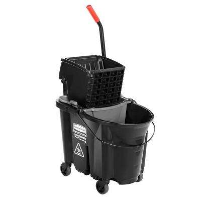 Executive Series 35 Qt. WaveBrake Black Side-Press and Black Mop Bucket Combo