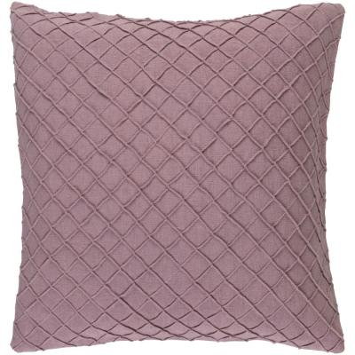 Gorleston Purple Solid Polyester 22 in. x 22 in. Throw Pillow