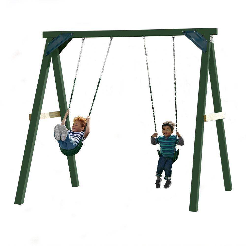 Swing-N-Slide Playsets 1-Hour Wood Complete Play Set