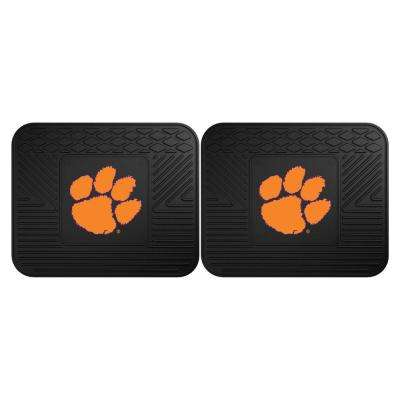 NCAA Clemson University Black Heavy Duty 2-Piece 14 in. x 17 in. Vinyl Utility Mat