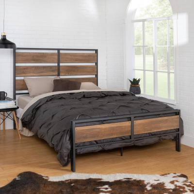 Queen Size Rustic Oak Wood