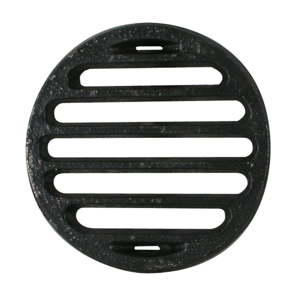 LDR Industries 4 in. Iron Bar Grate Drain-610 5314 - The Home Depot