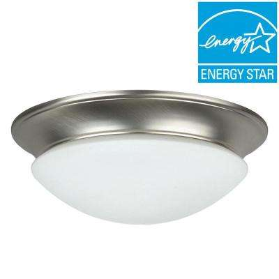 2-Light Satin Nickel Flush Mount