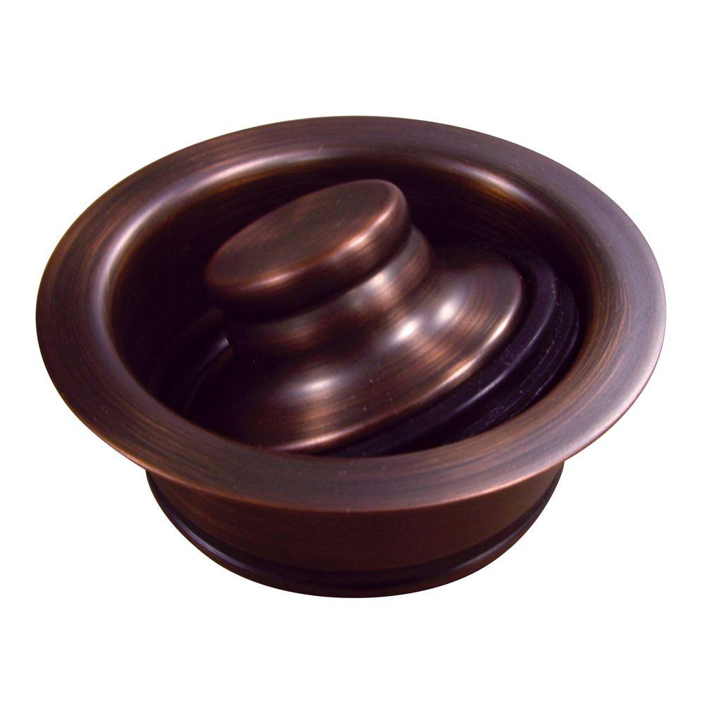 Yosemite Home Decor 3.5 in. Disposal Flange and Stopper in Copper