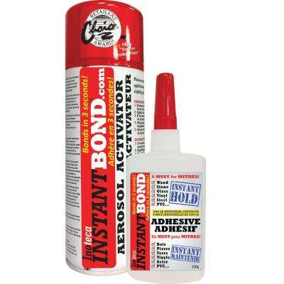 World's Fastest Instant Adhesive Glue - Clear - Cyanoacrylate Glue and Activator Spray - 100/400 ml
