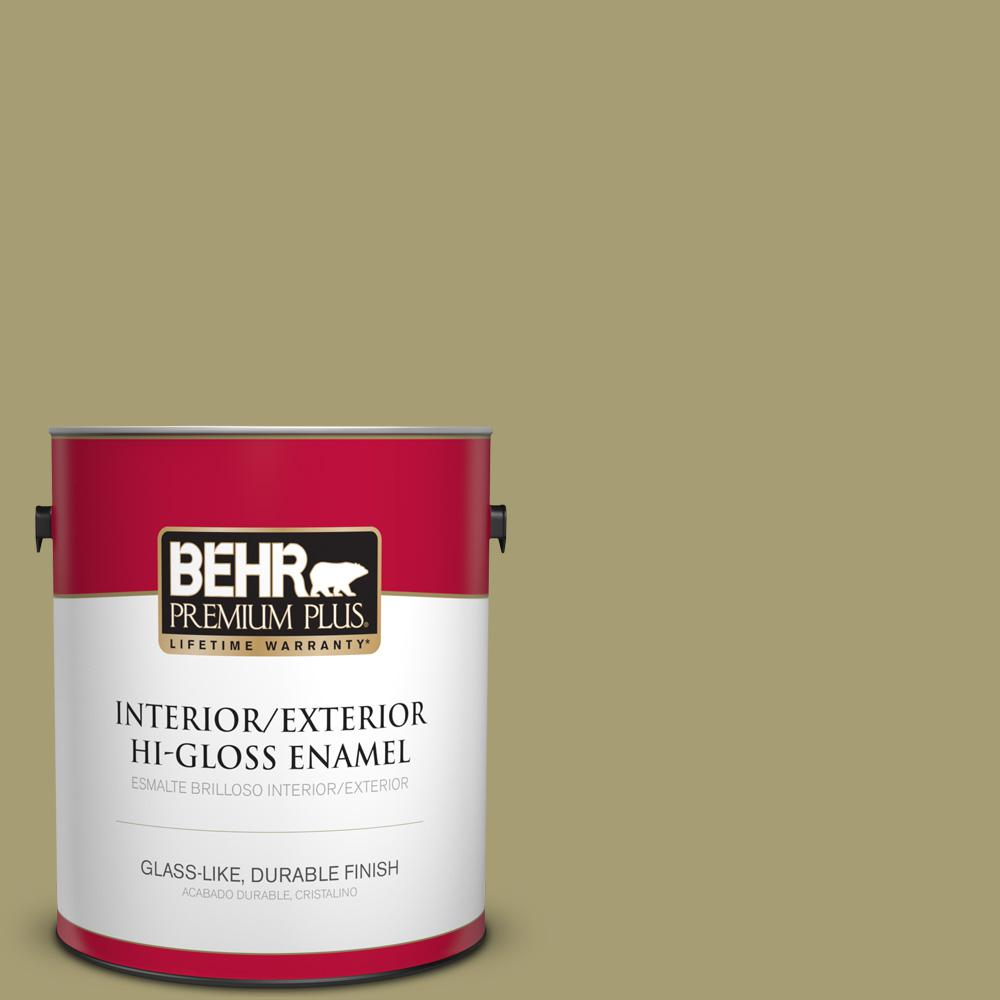 1 gal. #PPU9-04 Fresh Olive Hi-Gloss Enamel Interior/Exterior Paint
