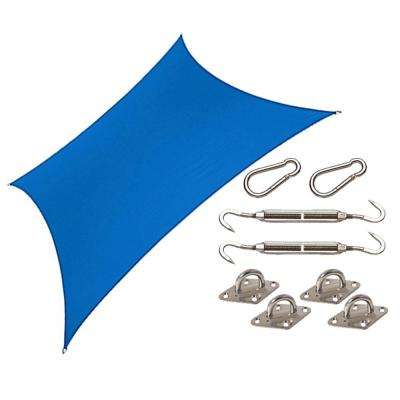 Coolhaven 12 ft. x 12 ft. Sapphire Square Shade Sail with Kit