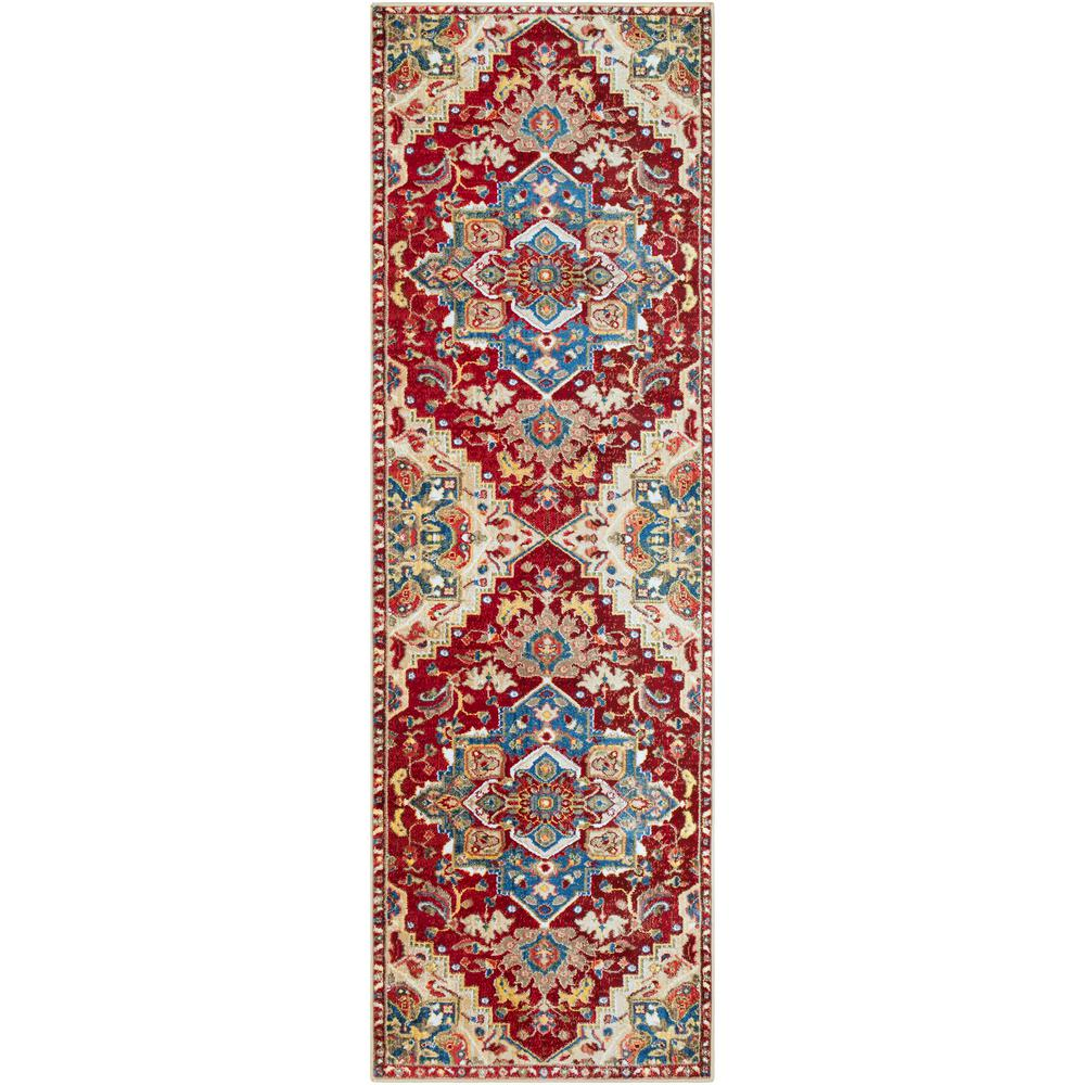 Artistic Weavers Neighbourne Red 3 Ft X 7 Ft 10 In