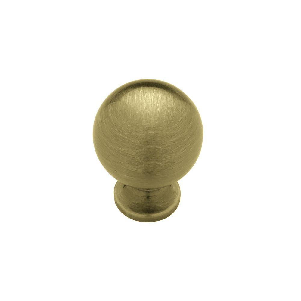 Antique Brass Ball Cabinet Knob