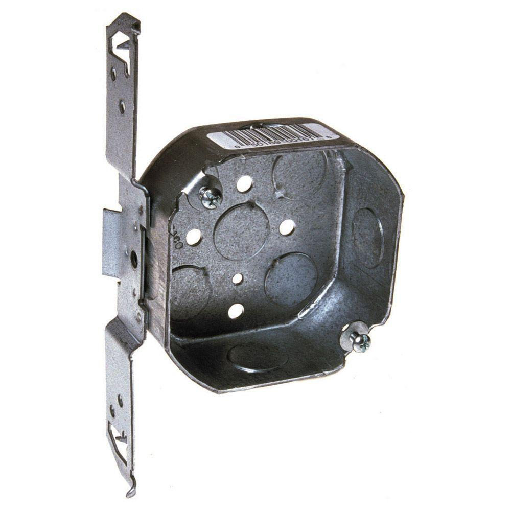 4 in drawn octagon electrical box bracket 161sp the home depot drawn octagon electrical box bracket 161sp the home depot mozeypictures