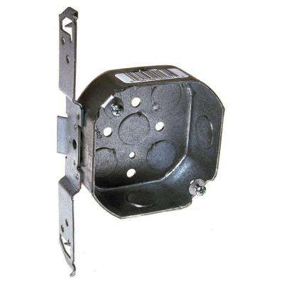 4 in. Octagon Box, 1-1/2 in. Deep with 1/2 in. KO's and TS Bracket (12-Pack)