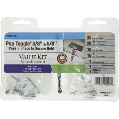 3/8 in. and 5/8 in. Pop Toggle Kit