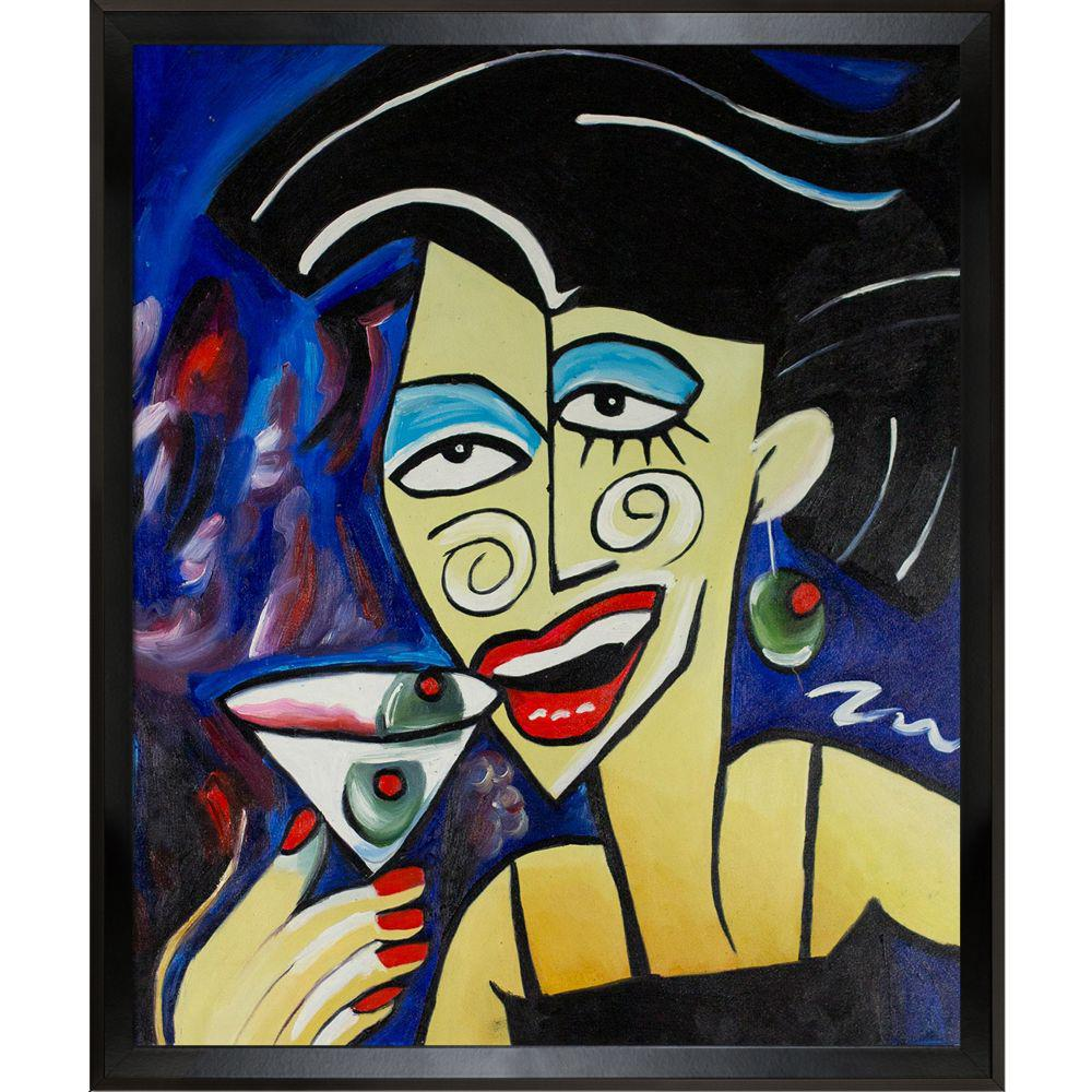 ArtistBe Picasso by Nora, One More Drink with Studio Black Wood Angle Frameby Nora Shepley Canvas Print, Multi-color was $617.01 now $301.23 (51.0% off)