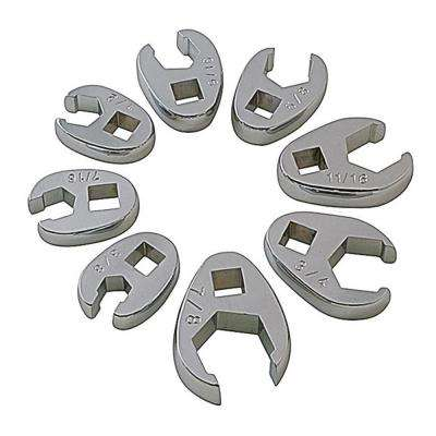 3/8 in. Drive Fractional Crowfoot Flare Nut Wrench Set (8-Piece)