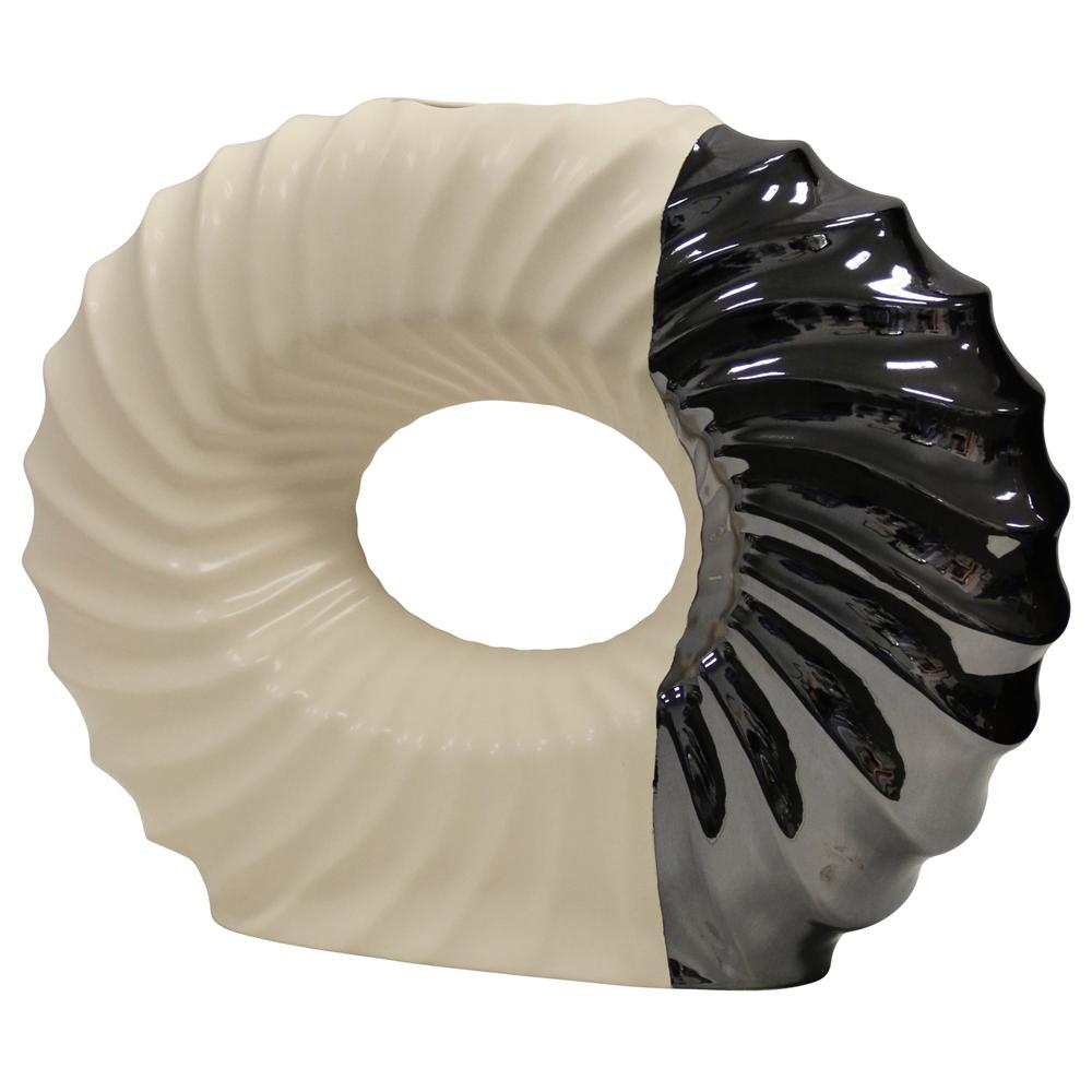 StyleCraft Large Washington Elizabeth White/Black Vase, Black and White was $117.99 now $60.72 (49.0% off)