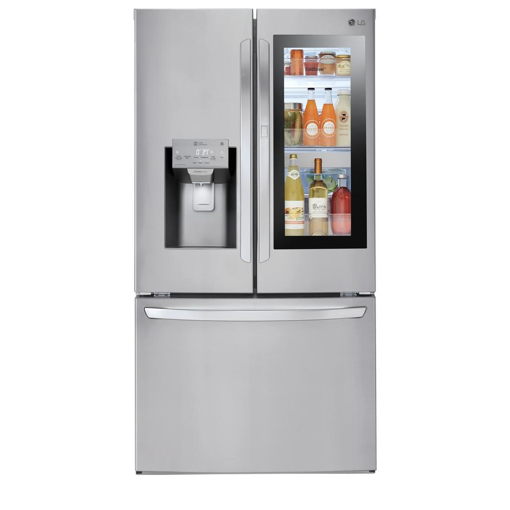 lg electronics 28 cu ft 3 door french door smart refrigerator with rh  homedepot com