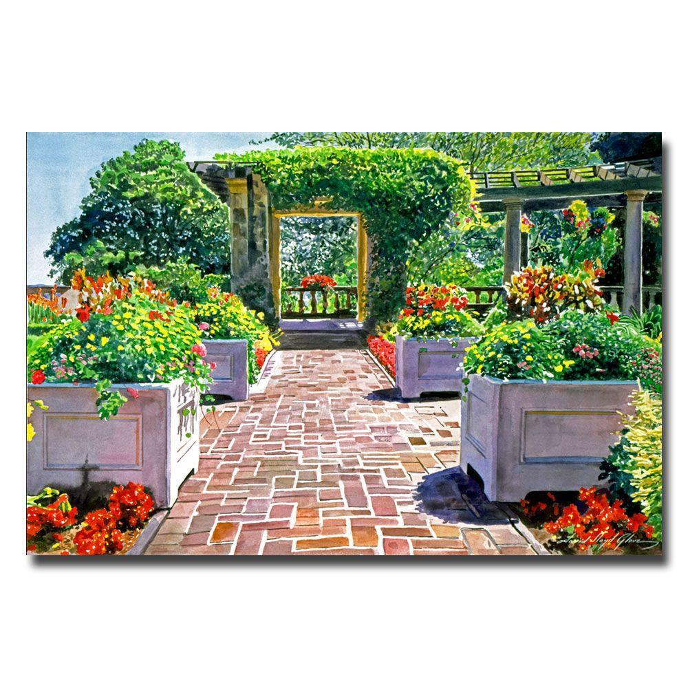 Trademark Fine Art 22 in. x 32 in. The Beautiful Italian Garden Canvas Art