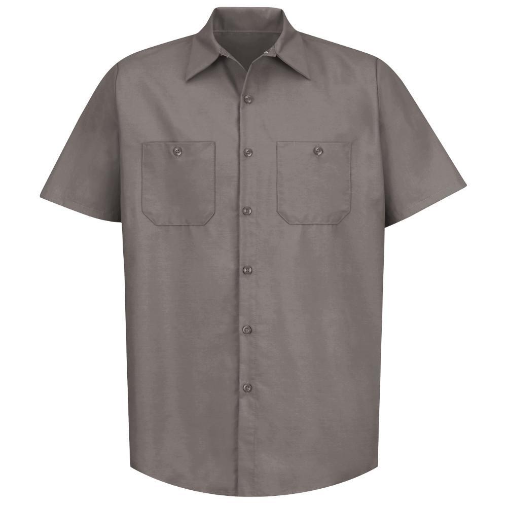 e66a28faf467 Red Kap Men's Size L (Tall) Grey Industrial Work Shirt-SP24GY SSL L ...