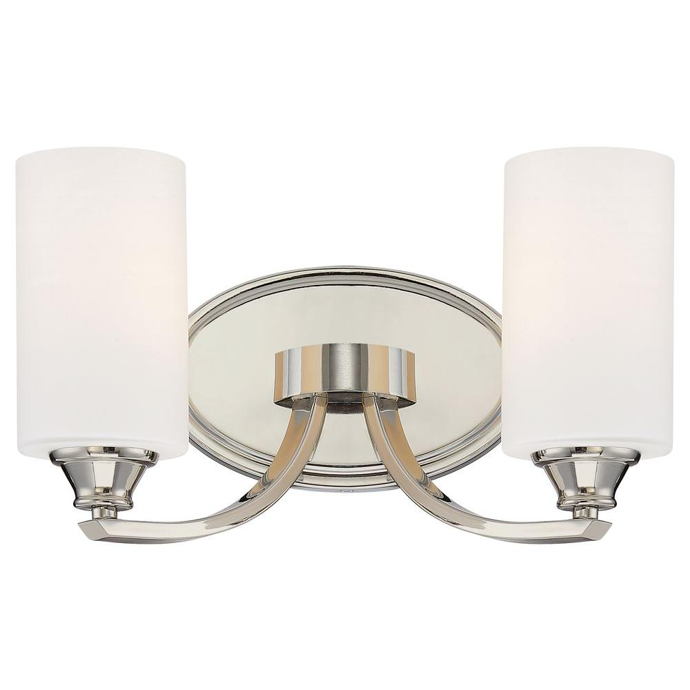 Tilbury 2-Light Polished Nickel Bath Light