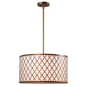 Tripoli 3-Light Antique Gold Pendant