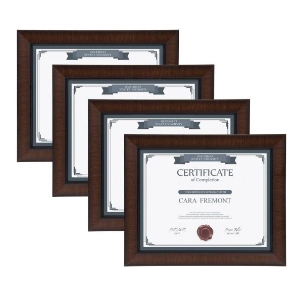 Designovation Lynnwood 8 5x11 Brown Picture Frame Set Of 4