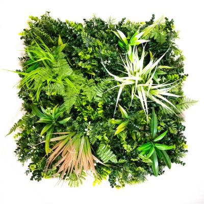 """20"""" x 20"""" Spider Fern Medley-Artificial Boxwood Hedges, Living Wall Panels (12 Piece)"""