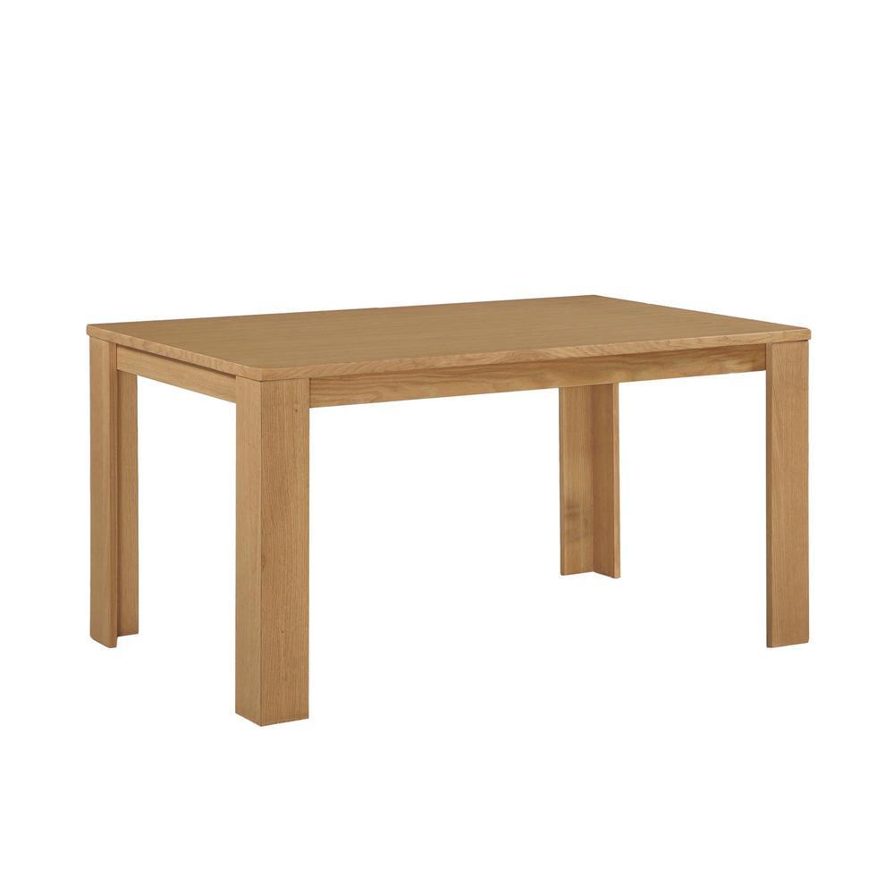 Weston Block Leg Dining Table in Wheat