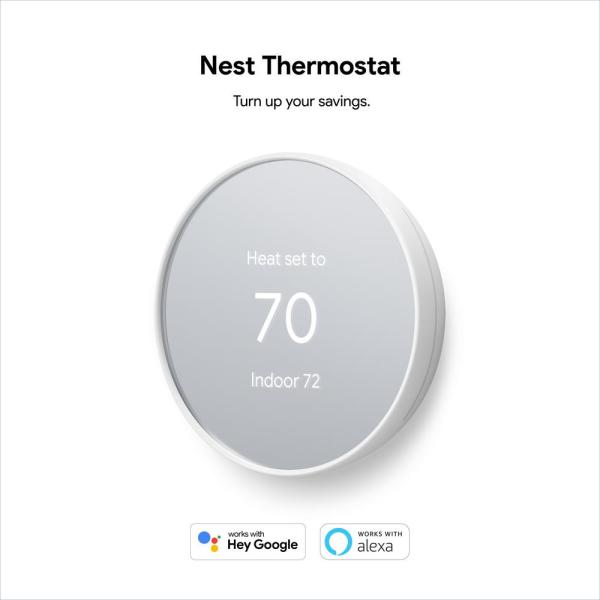 Made for The Nest Thermostat Programmable WiFi Thermostat Accessory Snow Google Nest Thermostat Trim Kit