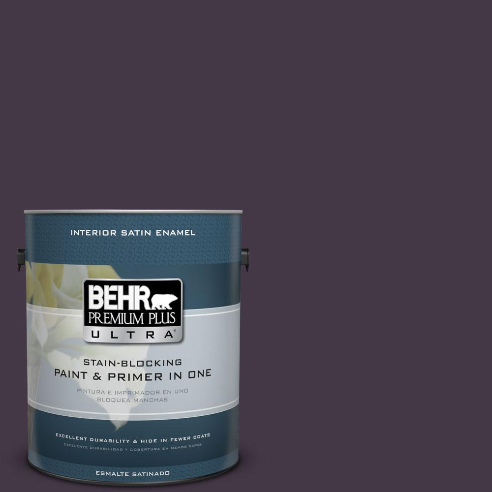 BEHR Premium Plus Ultra 1-gal. #ECC-17-3 Napa Harvest Satin Enamel Interior Paint