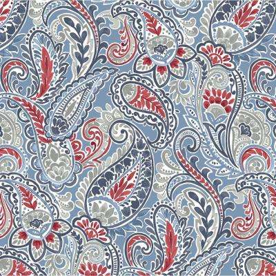 Midnight Paisley Square Outdoor Throw Pillow