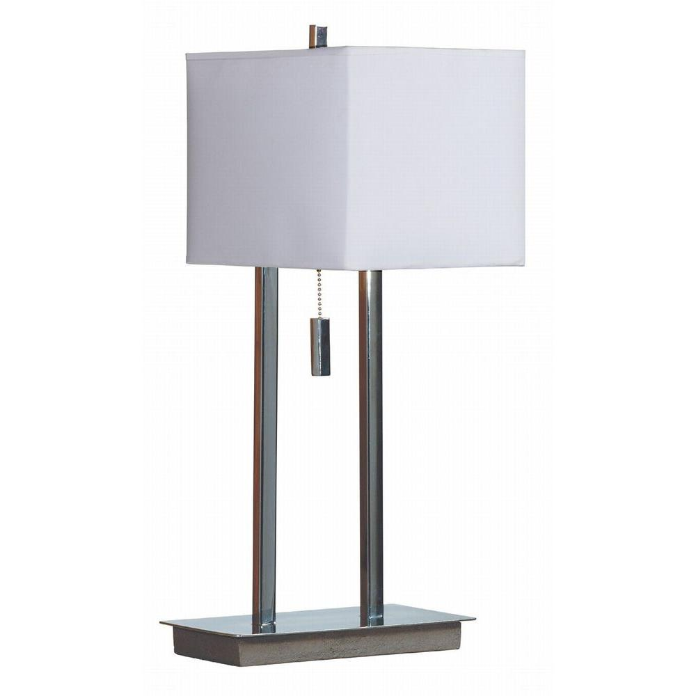 Emilio 21 in. Chrome Accent Table Lamp