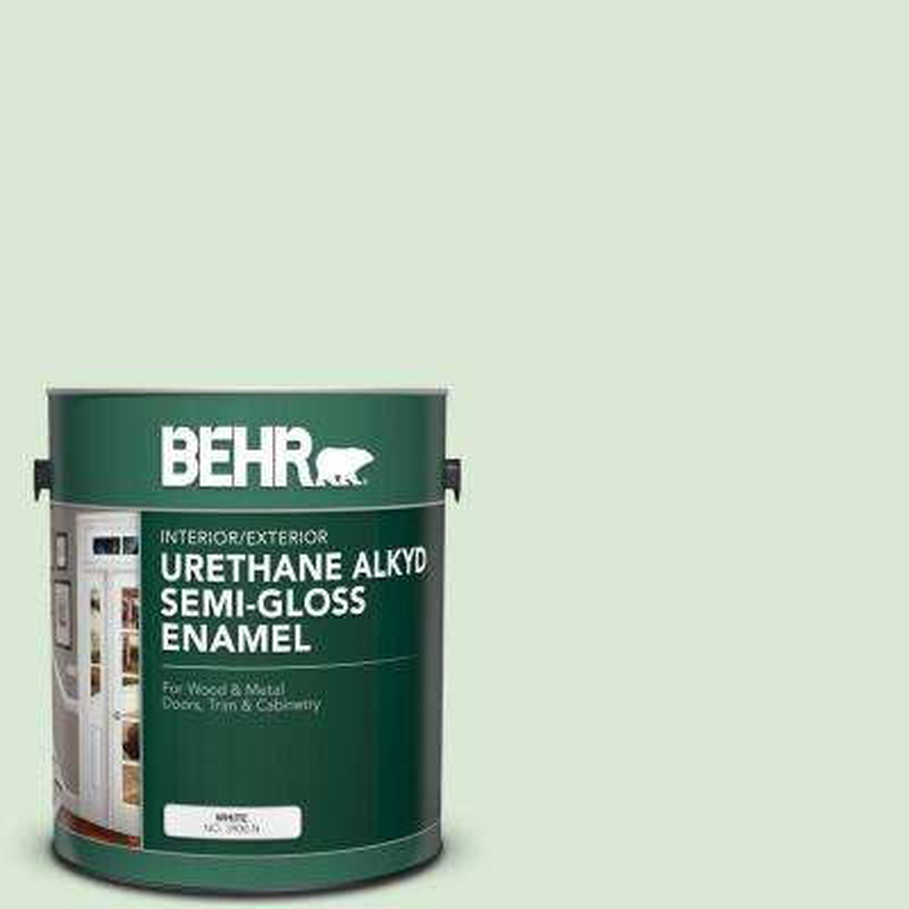 1 gal. #M400-2 Glass Tile Urethane Alkyd Semi-Gloss Enamel Interior/Exterior Paint