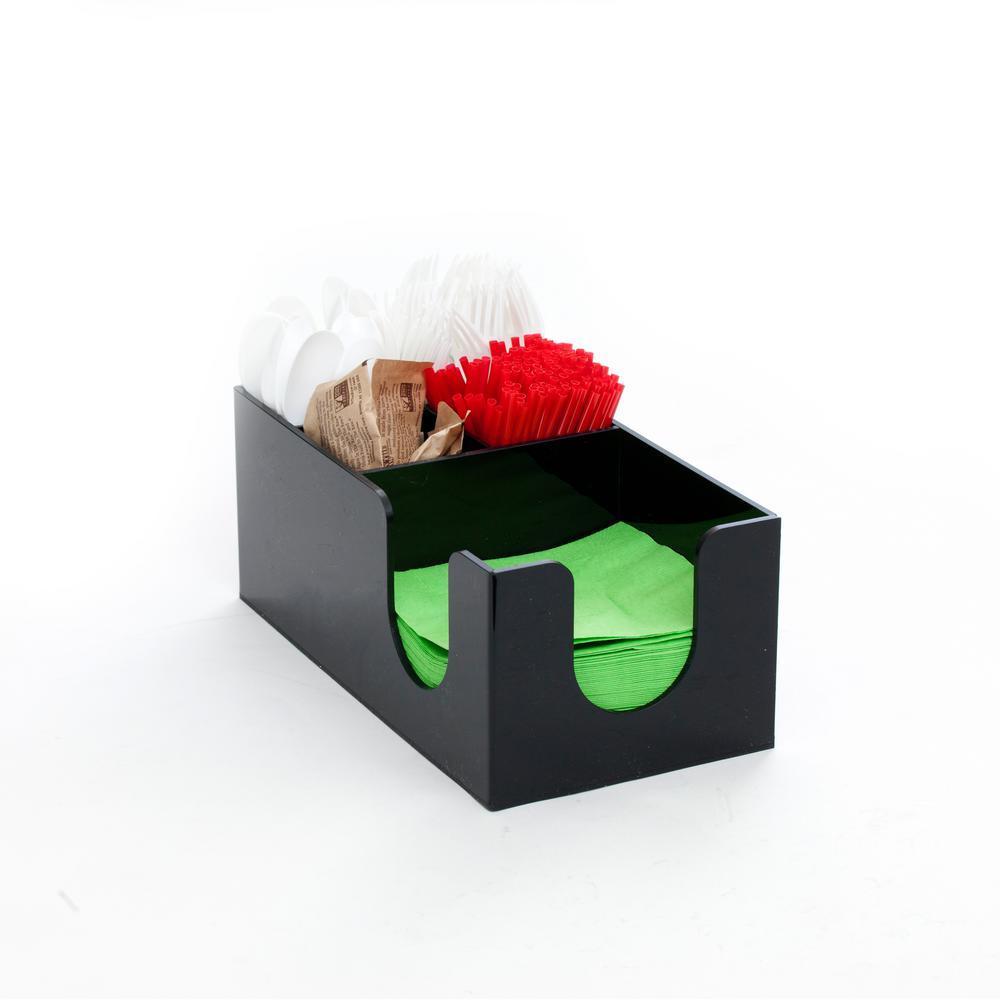 Condiment Organizer Acrylic 5 Compartment in Black