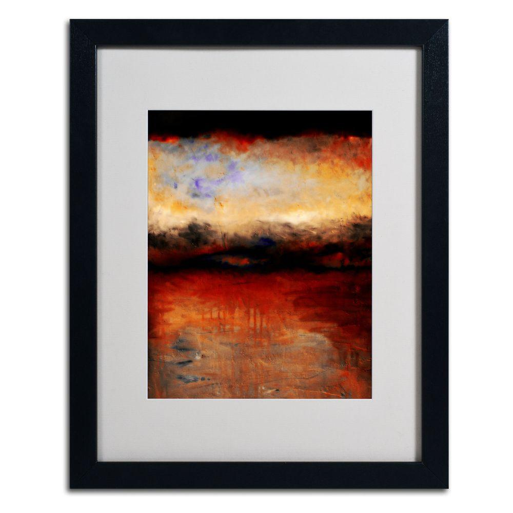Trademark Fine Art 16 in. x 20 in. Red Skies at Night Matted Framed Wall Art