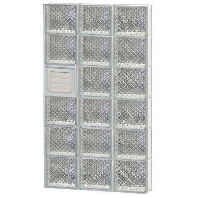 21.25 in. x 46.5 in. x 3.125 in. Frameless Diamond Pattern Glass Block Window with Dryer Vent