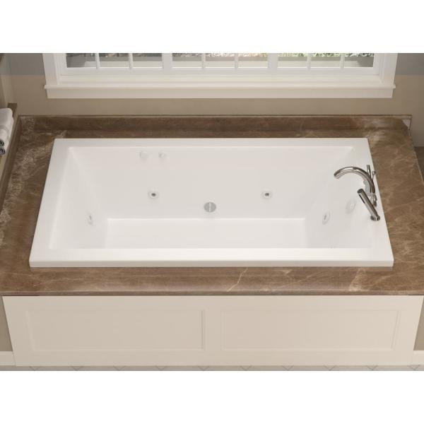 Universal Tubs Sapphire 6 Ft Rectangular Drop In Whirlpool Bathtub In White Hd3272vnwr The Home Depot