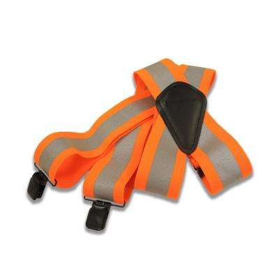 Mens Brite Orange Elastic High-Visibility Rugged Flex Suspender