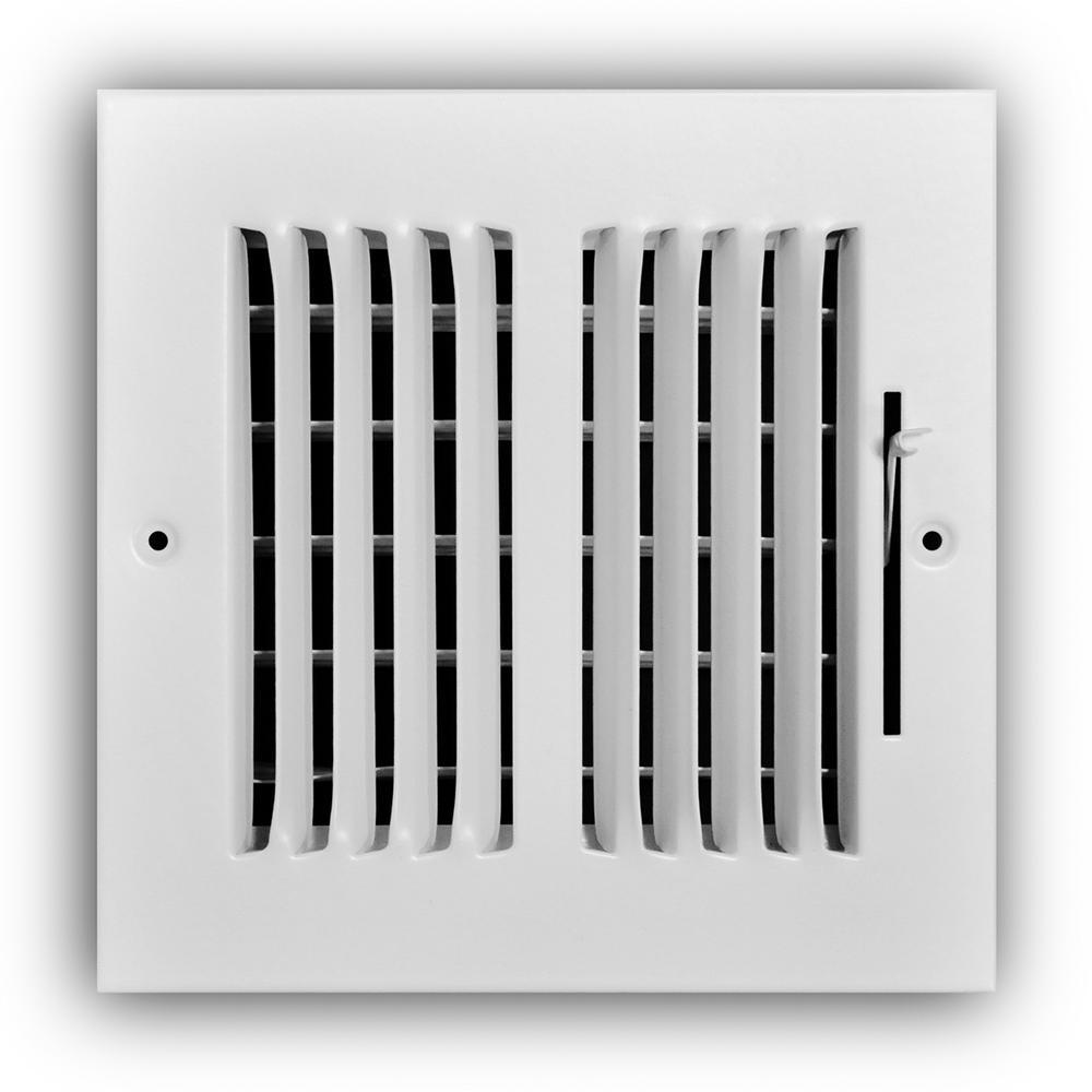 6 in. x 6 in. 2-Way Wall/Ceiling Register