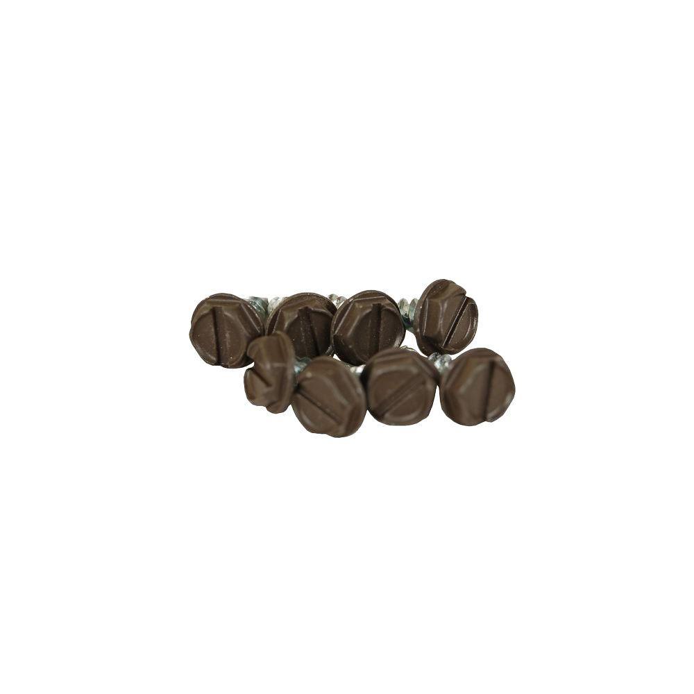 Musket Brown Steel Sheet Metal Screw (8-Pack)