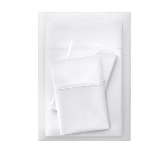StyleWell 300 Thread Count Easy Care Sateen 4-Piece Queen Sheet Set