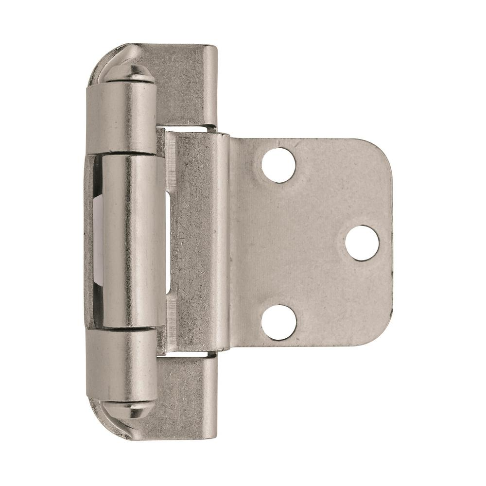 12 Hinges Partial Wrap Self Closing Cabinet Hinge 3//8 Inset 3//8 Overlay 6 Pair