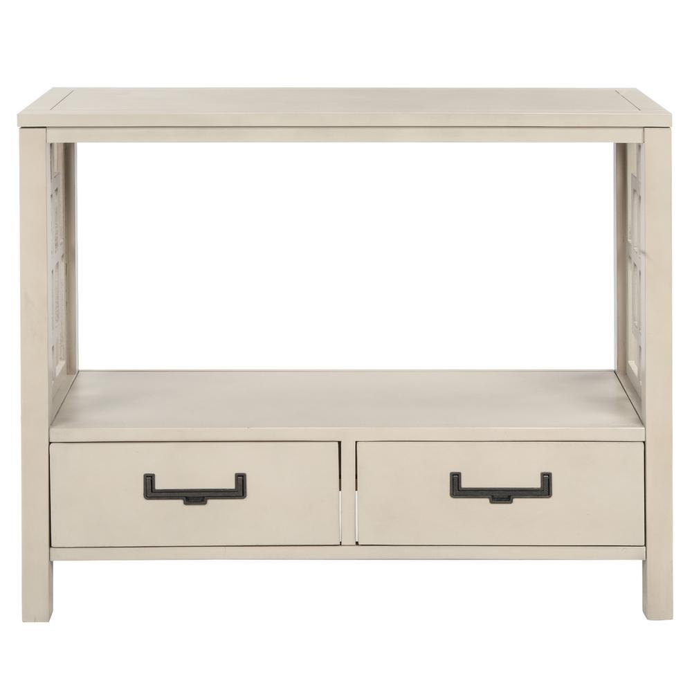 Harper & Bright Designs 30 in. Beige with 2-Bottom Drawers Console Table was $354.99 now $198.75 (44.0% off)
